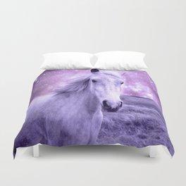 Lavender Horse Celestial Dreams Duvet Cover
