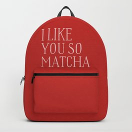 red matcha Backpack