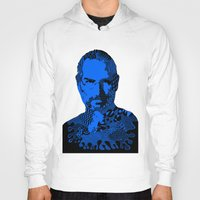 steve jobs Hoodies featuring Steve Jobs blue by Rebecca Bear