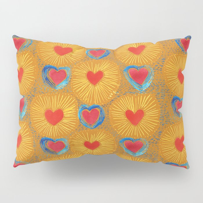 Heart_Coeur orange pattern Pillow Sham