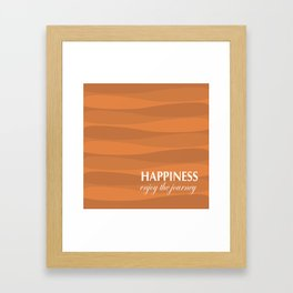 Orange for Happiness Framed Art Print
