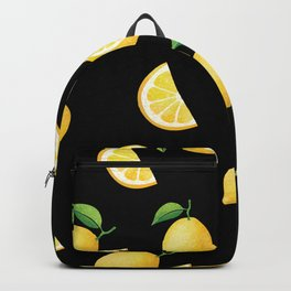 Lemons on Black Backpack