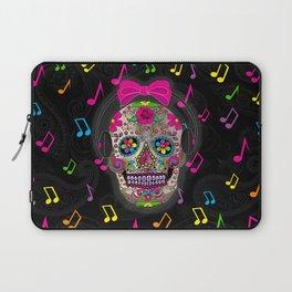 Sugar Skull Music Laptop Sleeve