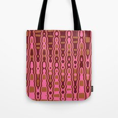 Pink and Brown Abstract Digital Image Tote Bag