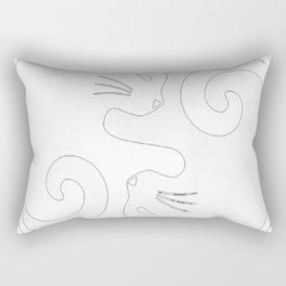 YIN YANG CAT Rectangular Pillow