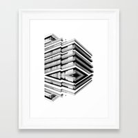 budapest hotel Framed Art Prints featuring Hotel Merriot Budapest. Deconstruction by Villaraco