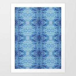 Blue Birch Art Print