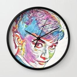 Audrey Hepburn (Creative Illustration Art) Wall Clock