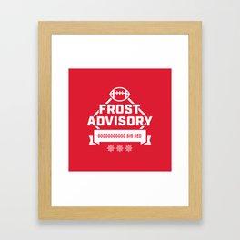 Frost Advisory Framed Art Print