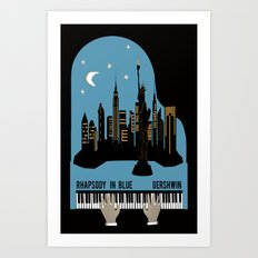 Rhapsody in Blue - Gershwin Art Print