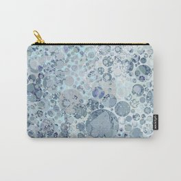 Abstract Faded Blue Grey Bubbles Carry-All Pouch