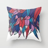 indonesia Throw Pillows featuring Birds from Indonesia by MARVIZE