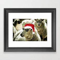 Tis The Season - Sheep Framed Art Print