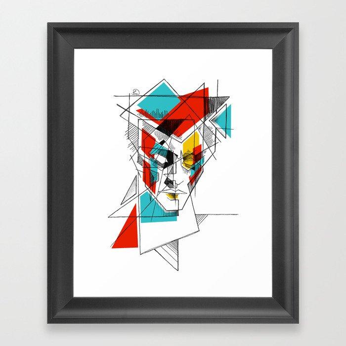 ziggy stardust 2 Framed Art Print