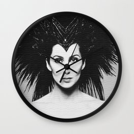 American singer, comedian and actress icon old rebuild photo. Lgbt queen. Wall Clock
