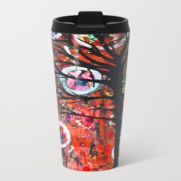 Abstract Tree Metal Travel Mug