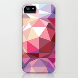 Geodesic dome pattern iPhone Case
