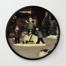 Snow Fun Wall Clock