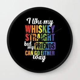 I Like My Whiskey Straight Wall Clock