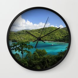 Maho Bay Wall Clock