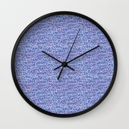 Cool blue abstract thread design Wall Clock
