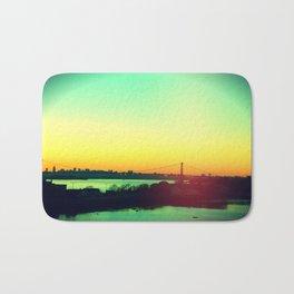 sunset in NYC Bath Mat