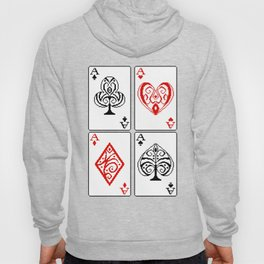 Ace cards pattern Hoody