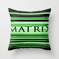 matrix Throw Pillows featuring Matrix by Svetlana Sewell