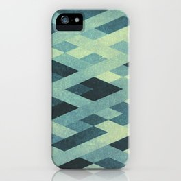 Abstract Pattern in Blue iPhone Case