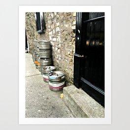 Irish Kegs Art Print