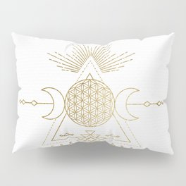 Golden Goddess Mandala Pillow Sham