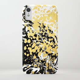 Sukie - abstract gold black and white foil glitter shiny sparkle hipster painting free spirit cosmic iPhone Case