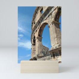 pula croatia ancient arena amphitheatre high Mini Art Print