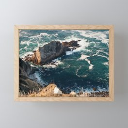 Big Sur, CA | Hurricane Point Framed Mini Art Print