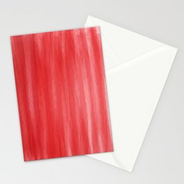 Red- ombre watercolor pattern! Stationery Cards