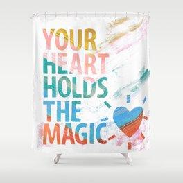 HEART MAGIC Shower Curtain