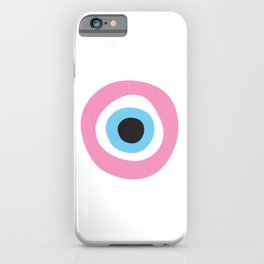 Pink Evil Eye Symbol iPhone Case