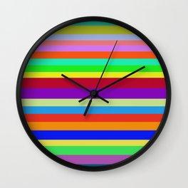 Colors, Colors, Colors Wall Clock