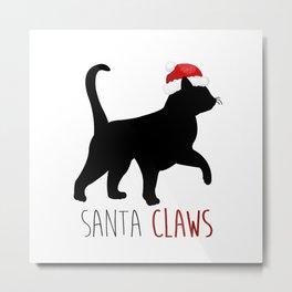 Santa Claws Metal Print