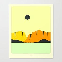 Minimal Landscape 24 (Mountains) Canvas Print