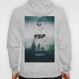 All lives matter go vegan Hoody