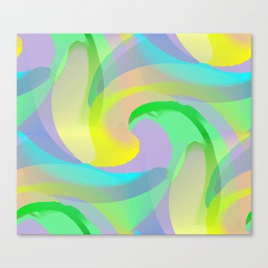 Soft Rainbow Abstract - Painterly Canvas Print