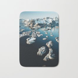 norway aerial view Bath Mat