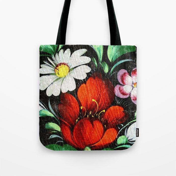 Vintage Flowers 4 Tote Bag