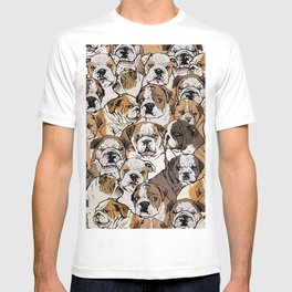 Social English Bulldog T-shirt
