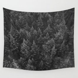 The Forest (Black and White) Wall Tapestry