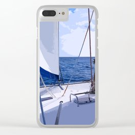 Sailing Winds - Sailing the Caribbean Clear iPhone Case
