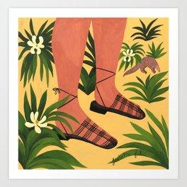 Hereu's Eularia Sandals & Pangolin Art Print