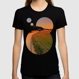 Hiking trip in summer time   landscape photography T-shirt