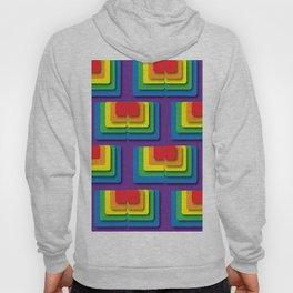 Rainbow Squere Hoody